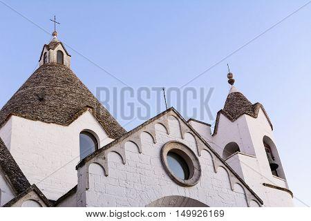 The Church in Alberobello in Puglia (Italy)