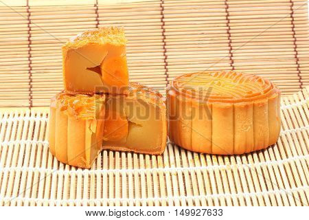 Moon Cake Variety mid autumn festival Chinese tradition on white background