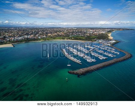 Aerial Image Of Sandringham Yacht Club And Marina