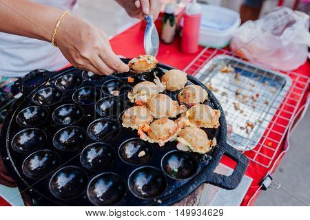 Sweet And Savory Grilled Coconut Rice Hot Cakes Kanom Krok