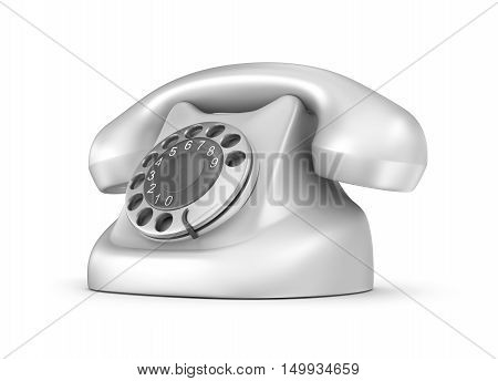 Retro telephone front view. Isolated. My own design