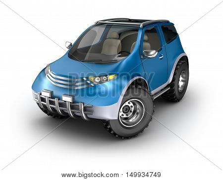 Offroad car concept. My own design,3D render