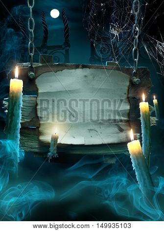 Design background for a party on the night of Halloween