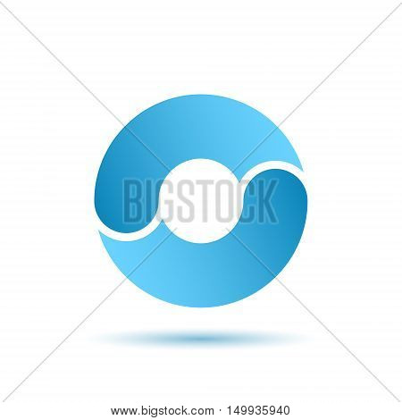 O letter sign water circulation concept 2d vector illustration isolated on white background eps 10