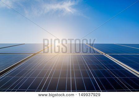 solar panels transforming sunlight into energy,china.