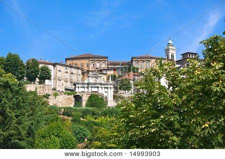 View Of Bergamo Alta, Italy