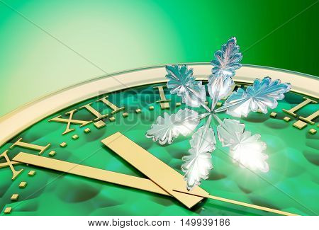 2017 count down - Happy New Year greeting card. 3D illustration