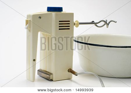 Electric Food Mixer Isolated