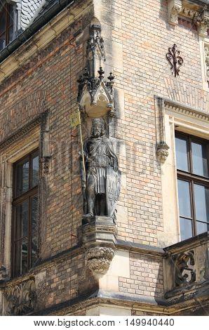 Saint Wenceslas statue in Prague, Czech Republic