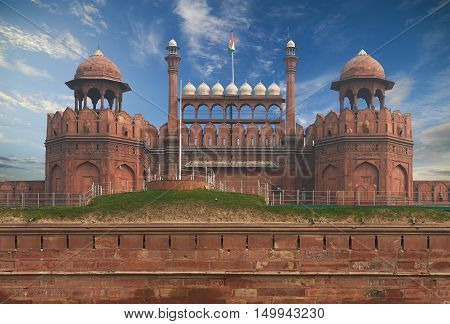The Red Fort Located In New Delhi, India.
