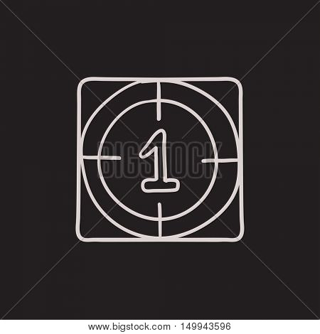 Countdown vector sketch icon isolated on background. Hand drawn Countdown icon. Countdown sketch icon for infographic, website or app.