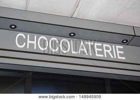 a frontstore of an french chocolate shop