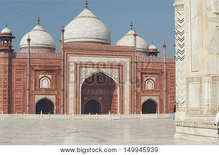 Taj Mahal India, Agra. 7 World Wonders. Beautiful Tajmahal Trave