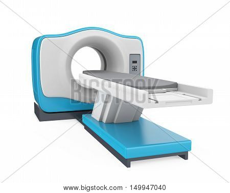 CT Scanner Tomography isolated on white background. 3D render