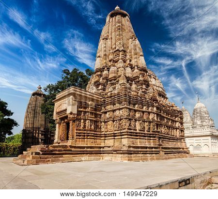 Vaman Temple in famous indian tourist site Khajuraho, Madhya Pradesh, India