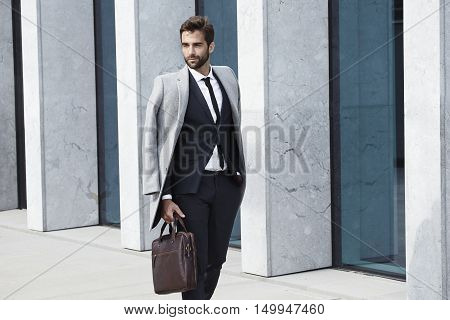 Handsonme sharp dressed guy in business attire