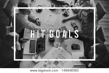 Hit Goals Success Target Achievement Accomplishment Concept