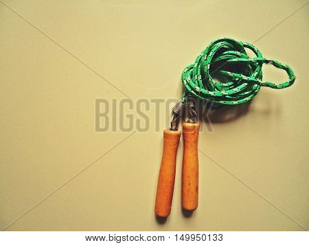 Jump rope or skipping rope equipment for exercise in vintage mode