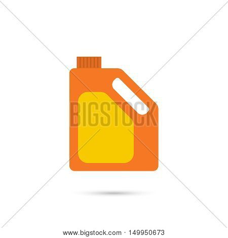 Canister of engine oil. Vector. Can for lubricating material.