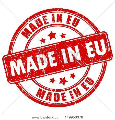 Made in eu stamp vector illustration isolated on white background