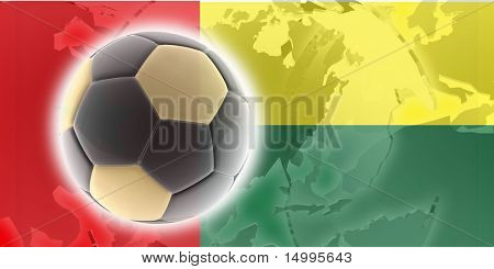 Flag of Guinea Bissau, national country symbol illustration sports soccer football