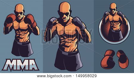 MMA Fighter Club with optional gloves and framing