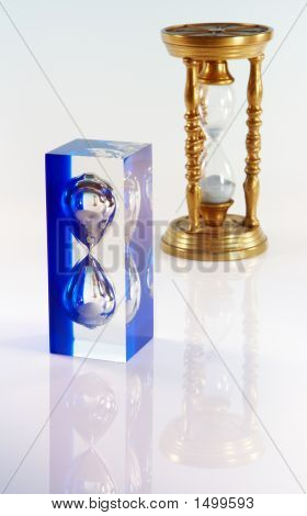 Old And New Hour Glass