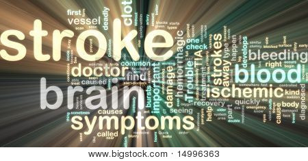 Word cloud tags concept illustration of stroke glowing neon light style