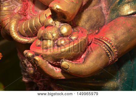 Close-up Modakapatra for Ganesha in Holi Festival