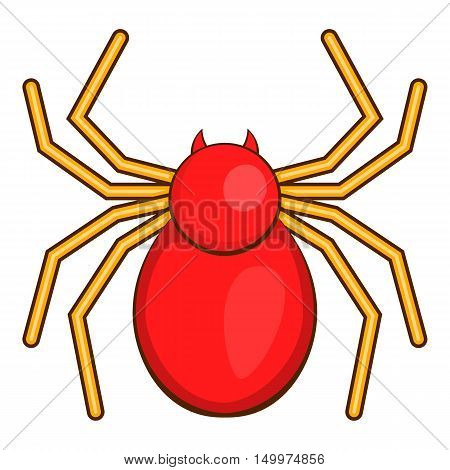 Computer bug icon in cartoon style isolated on white background vector illustration