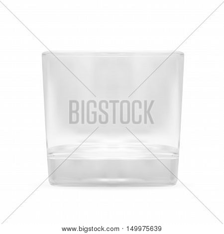 Transparent Shot Glass. Isolated On White Background. EPS10 Vector