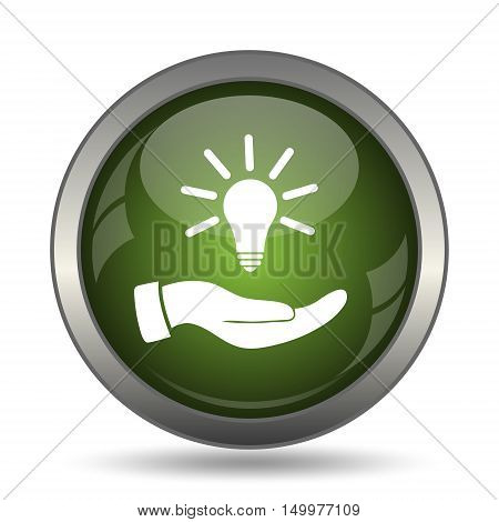 Hand Holding Lightbulb.idea Icon