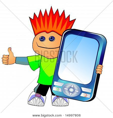 Guy with cell phone