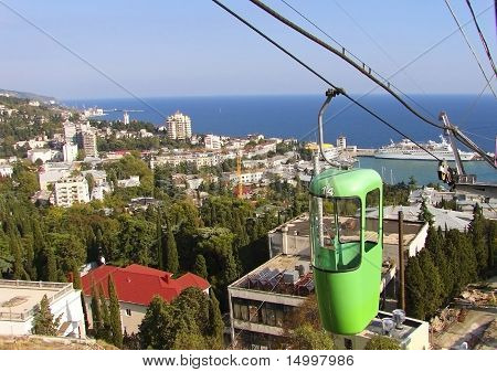 Crimea, Ukraine Yalta City View From The Height Of The Ropeway