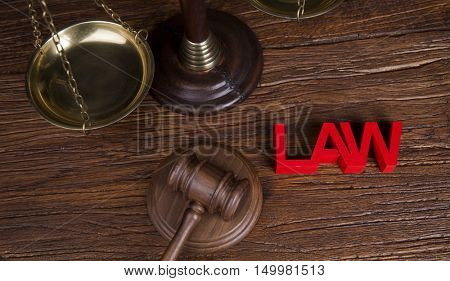 Court gavel,Law theme, mallet of judge
