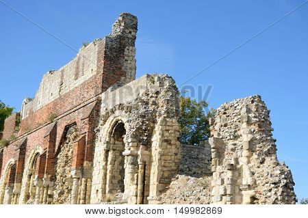 Ruins of St Augstines abbey Canterbury UK