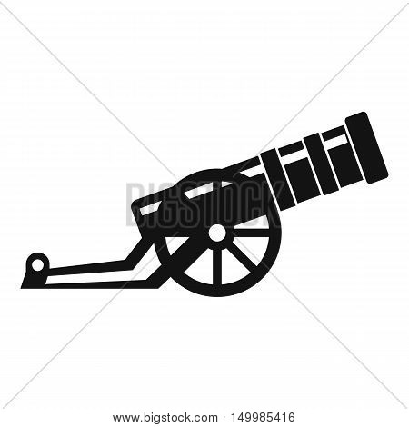 Cannon icon in simple style on a white background vector illustration