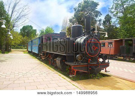 municipal railway park of Kalamata Messinia Greece