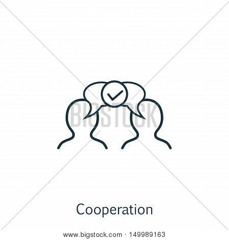 Vector Illustration Of Business Icon On Collaboration In Trendy Flat Style. Business Isolated Icon F