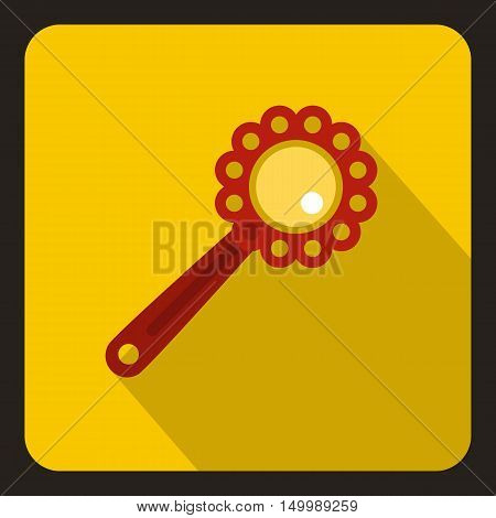 Baby rattle icon in flat style on a white background vector illustration