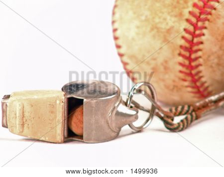 Whistle Baseball On White