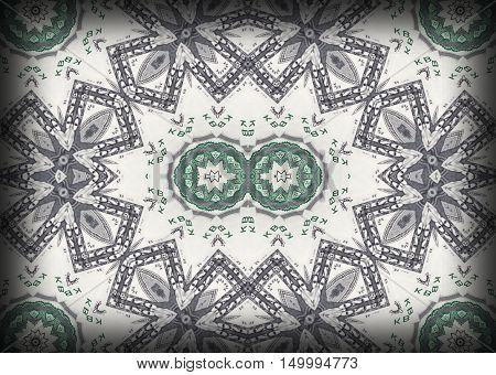 Background from a variety of hundred-dollar bills. Money money. Dollars background. Counterfeit money. Kaleidoscope