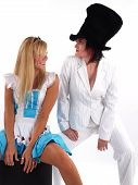 foto of mad hatter  - Alice and the Mad Hatter having a good time - JPG