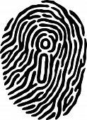 stock photo of dna fingerprinting  - A finger print has a  - JPG