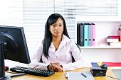 Black Businesswoman At Desk