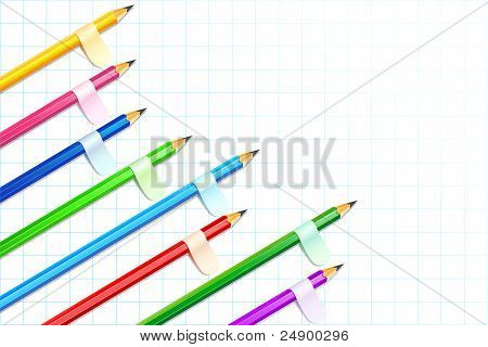 colorful pencil showing bar graph