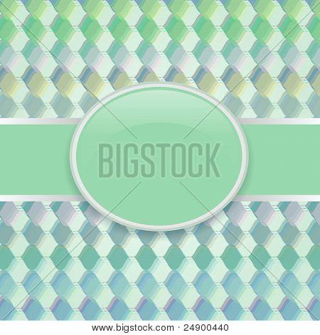 Pop art vector green retro cover