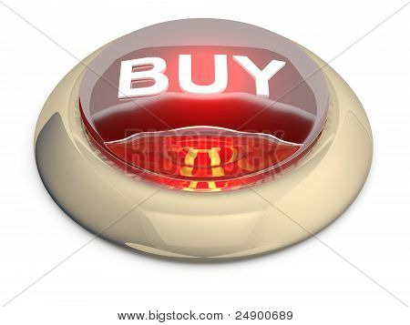 Red Glossy Buy  Button