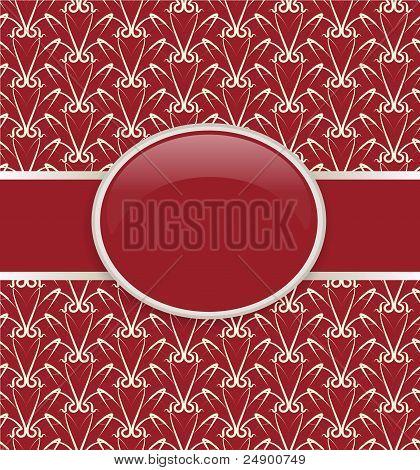Art vector retro red ornate cover