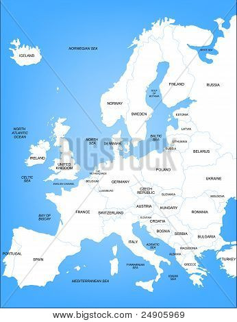 Basic Vector Map of Europe